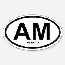 AM Armenia Oval Decal