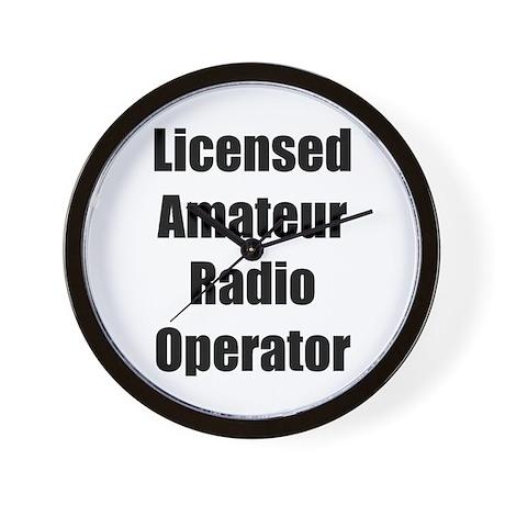 Licensed Radio Operator Wall Clock