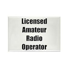 Licensed Radio Operator Rectangle Magnet