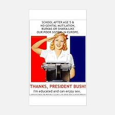 Thanks, President Bush! Rectangle Decal