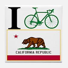 I BIKE California Tile Coaster