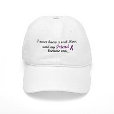 Never Knew A Hero FRIEND (Purple) Baseball Cap