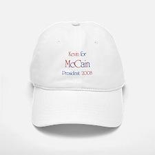 Kevin for McCain 2008 Baseball Baseball Cap