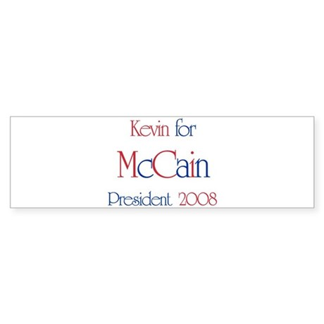 Kevin for McCain 2008 Bumper Sticker