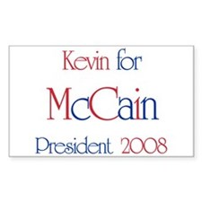 Kevin for McCain 2008 Rectangle Decal