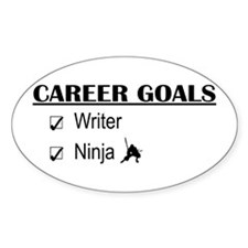Writer Career Goals Oval Decal