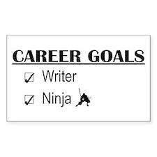 Writer Career Goals Rectangle Decal