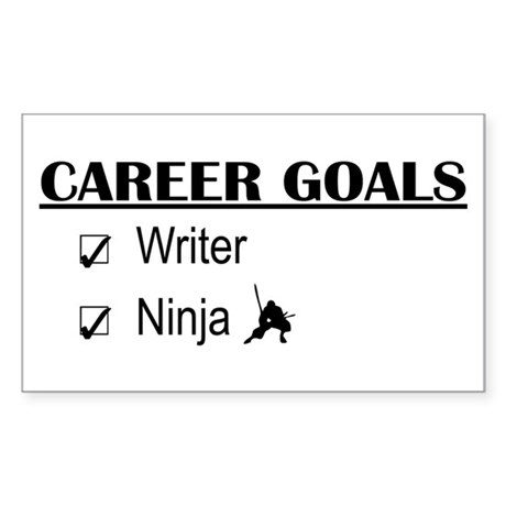 Writer Career Goals Rectangle Sticker
