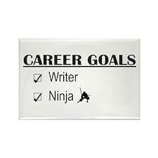 Writer Career Goals Rectangle Magnet