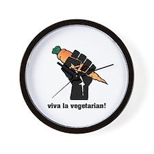Viva la vegetarian! Wall Clock