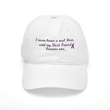 Never Knew A Hero BEST FRIEND (Purple) Baseball Cap