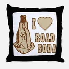 I Love Road Soda Throw Pillow