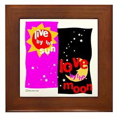 Love by the Moon Framed Tile