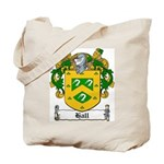 Hall Family Crest Tote Bag