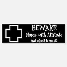 Nurse With Attitude Bumper Bumper Bumper Sticker