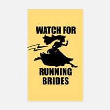 Running Bride Rectangle Decal