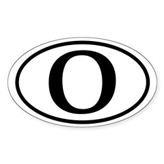 O: Barack Obama Oval Bumper Decal