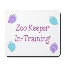 Zoo Keeper In Training Pink Mousepad