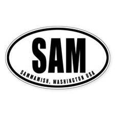 SAMMAMISH, WA USA Oval Decal