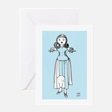 Cute Gorey christmas Greeting Card