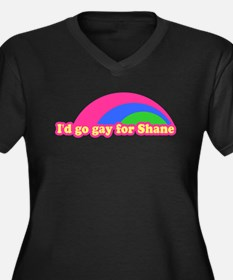 I'd go gay for Shane Women's Plus Size V-Neck Dark