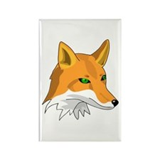 Kitsune (Red Fox) with Green Rectangle Magnet