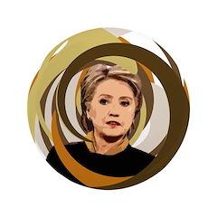 Hillary Clinton Vortex Extra Large Button