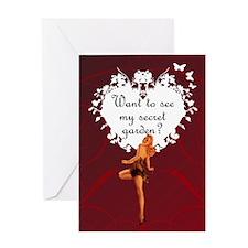 Pin-Up Secret Garden Valentine Card
