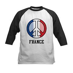 Peace In France Kids Baseball Jersey