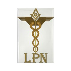 Masonic LPN Symbol Rectangle Magnet