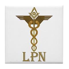 Masonic LPN Symbol Tile Coaster
