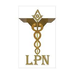 Masonic LPN Symbol Rectangle Decal