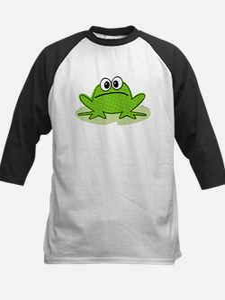 Cute Frog Kids Baseball Jersey