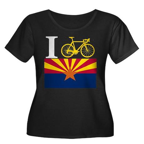 I BIKE Arizona Women's Plus Size Scoop Neck Dark T