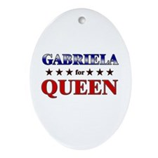 GABRIELA for queen Oval Ornament