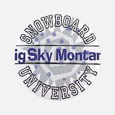 "Snowboard Big Sky MT 3.5"" Button"