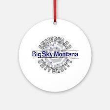 Snowboard Big Sky MT Ornament (Round)