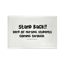 Herd of Nursing Students Rectangle Magnet (10 pack