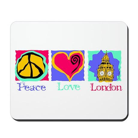 Peace Love London Mousepad
