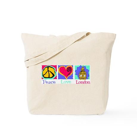 Peace Love London Tote Bag