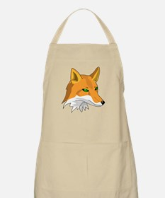 Kitsune (Red Fox) with Green BBQ Apron
