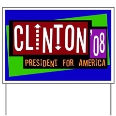 Hep Clinton for America Yard Sign