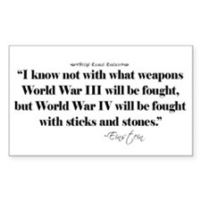 War Quote Rectangle Decal