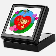 Valentine Monkey Keepsake Box
