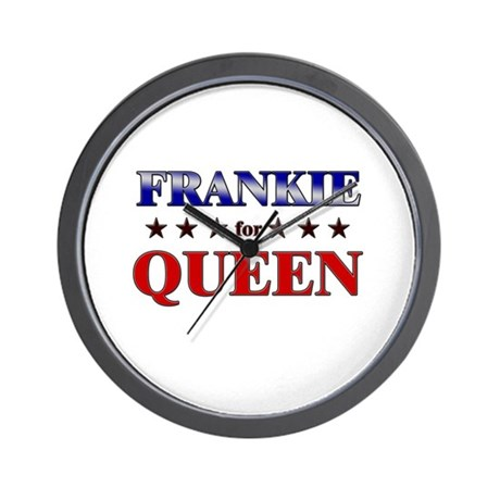 FRANKIE for queen Wall Clock