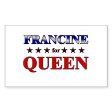FRANCINE for queen Rectangle Decal