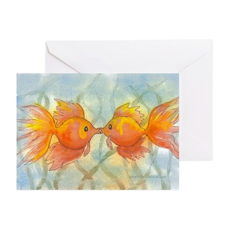Kissing Fish Anniversary Cards (Pk of 10)