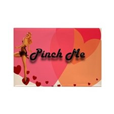 Pin-up Pinch Me Rectangle Magnet
