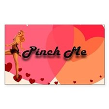 Pin-Up Pinch Me Rectangle Decal