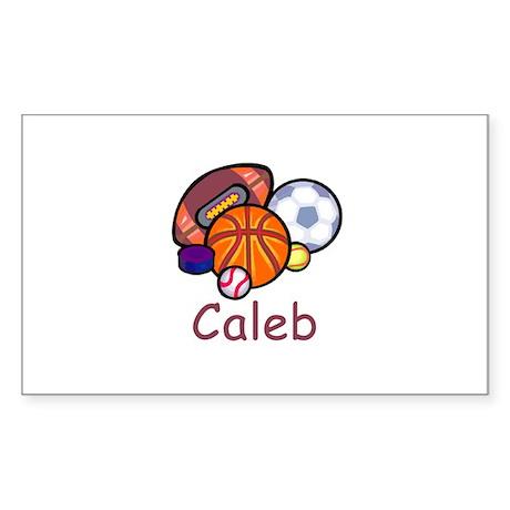 Caleb Rectangle Sticker